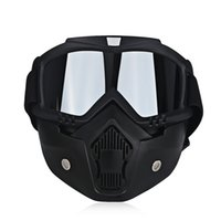 Wholesale goggles for open face helmet for sale - Group buy Universal UV Protection Motorbike Open Face Detachable Goggles Vintage Retro Motorcycle Glasses For Helmet Colors