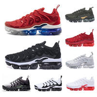 Wholesale hiking camping packs online - TN Plus Running Shoes For Men Women Designer Sneakers Olive In Metallic White Silver Colorways Shoes Male Shoe Pack Triple Black Mens Shoes