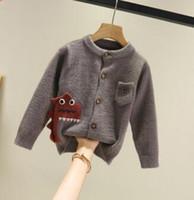 chaqueta estilo cardigan de niño al por mayor-Cárdigan para niño, vestido de otoño, nuevo estilo de chaqueta de punto para niños, chaqueta de otoño e invierno para niños, tendencia de niño