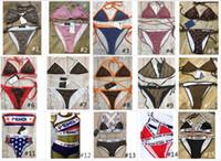 designers de roupas para senhoras venda por atacado-100 Estilo de Luxo Designer de Senhora Verão Praia Sexy Bikini Underwear 2 Peças Swimwear Das Mulheres Swimsuit Natação Roupas de Banho Maiôs Nó