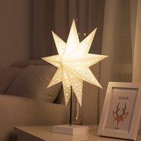 origami zum geburtstag großhandel-Einfache Moderne Schlafzimmer Nachttischlampe Kreative Romantische Origami Windrad Stern Dekoration Tisch nachtlampe für Geburtstagsgeschenk - R20