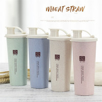 Wholesale mai for sale - Group buy Mai Xiang Wheat Straw Carry Cup Talent Show Water Bottle Monolayer With Mouth Tumbler Student Gift Eco Friendly Pure Color rab1