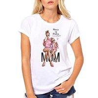 ingrosso donne di tshirt di amore-T-shirt Love Mother's Women Super Mamma Maglietta Donna Mama Abbigliamento Estate Manica Corta T shirt Vogue femminile Harajuku Top Tee