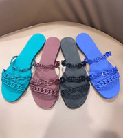 a58accaa6 Wholesale jelly flip flops for sale - designer shoes Women sandals slides  rubber jelly sandals Brand