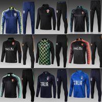 italya ceketleri toptan satış-Brezilya Hollanda İtalya futbol Eşofman 2019 Portugals Nijerya hollanda ceket koşu P. COUTINHO MBAPPE ROBBEN Futbol Eğitimi uygun