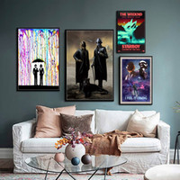 poster de lona de seda venda por atacado-Daft Punk The Weeknd Starboy Metallic Hot DJ Pintura Hip Hop Art Silk Canvas Poster Recados Home Decor