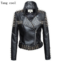 Women/'s Rock Punk Rivet Studded Motorcycle Slim Denim Jacket Coat Blazer S-6XL