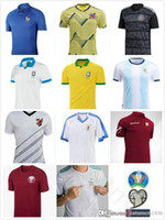 camisetas de fútbol de uruguay al por mayor-2019 Copa América Copa Fútbol Jersey Argentina Messi Brasil Colombia Argelia México Uruguay Mali Qatar Venezuela Paraná Fútbol personalizado Shir