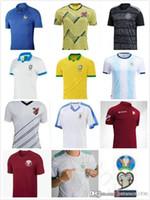 camisas de futebol uruguai venda por atacado-2019 Copa América Copa Soccer Jersey Argentina Messi Brasil Colômbia Argélia México Uruguai Mali Qatar Venezuela Parana Custom Football Shir