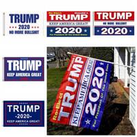 золотые украшения из тюля оптовых-90 * 150см Флаг Трампа 2020 года Флаг Дональда Трампа Сохранить Америку Великого Дональда для президента США-1