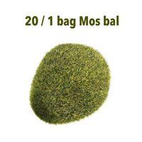 зеленый бонсай оптовых-20pcs/pack Artificial Green Moss Ball Fake Stone Simulation Plant Garden Ornaments Hotel Home Office Bonsai Decoration