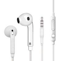 control de volumen del micrófono del iphone al por mayor-S6 S7 Auriculares Auriculares J5 Auriculares Auriculares iPhone 6 6s Auriculares para Jack In Ear cableados con control de volumen de micrófono 3.5mm blanco con RetailBox