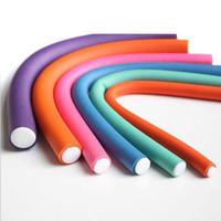 rolinhos flexíveis venda por atacado-Espuma DIY Styling Hair Rollers Flexível Curler Bendy Curls Ferramenta para Ferramentas de Estilo