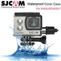 Wholesale waterproof motorcycle camera resale online - SJCAM Series Motorcycle Waterproof Case for SJ4 SJ5 SJ6 SJ7 SJ8 Sports Charging Case Charger Housing Camera Accessories