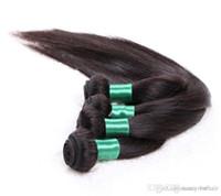 ingrosso spargimento dei capelli brasiliani-Grado 6A - Brasiliano capelli umani di seta dei capelli di Remy Bundle 100 g / pezzo 5 Pz / lotto, nessun groviglio nessun spargimento, DHL libero