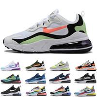 moda de jade blanco al por mayor-Nike Air max 270 V2 Reaccionar zapatos para correr Chaussures Hombres Mujeres Bauhaus derecho Violeta Hyper Jade Triple s blancos negros Entrenadores de tenis zapatillas de deporte