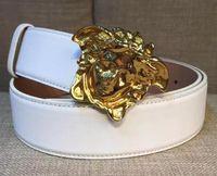 Wholesale plastic buckle belts for men for sale - Group buy designer belts luxury belts for men big buckle belt top fashion mens leather belts White Real Leather Men Belt With Box