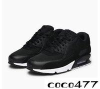 klasik spor giyim toptan satış-2019 nik 90 Erkekler Koşu Ayakkabıları Klasik Açık Giyim Spor Ayakkabı Erkek Rahat Nefes Spor Sneakers 537384-090