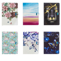 Wholesale butterfly ipad mini for sale - Group buy Leather Wallet Case For Ipad Air iPad Mini Unicorn Flower Butterfly Lion Cartoon Holder Cover