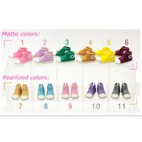 11 cm schuhe großhandel-Blythe WOWHOT 3,5 cm Puppe für Blythe BJD Puppen Spielzeug, 11 Paar Beiläufige Nette Turnschuhe Zubehör für Puppen Turnschuhe, 11 Farben Gemischt