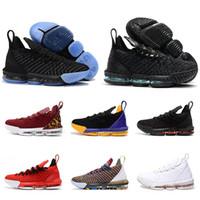 zapatos altos 16 al por mayor-2019 más nuevo Lebron 16 zapatos de baloncesto para hombre James 16 marca moda zapatillas deportivas de alta calidad cómodas zapatillas de corte bajo tamaño 7-13