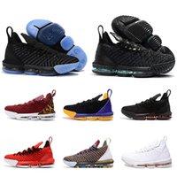 erkekler düşük kesim basketbol ayakkabıları toptan satış-2019 Yeni Lebron 16 Erkek Basketbol Ayakkabı James 16 Marka Moda spor Sneakers Yüksek Kalite Rahat Low Cut Eğitmenler Ayakkabı Boyutu 7-13