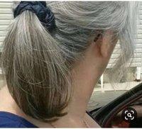 gri dokuma saç toptan satış-DIVA Doğal gri gümüş gri kadınlar midilli kuyruk saç parça ombre gerçek saç gri örgü at kuyruğu
