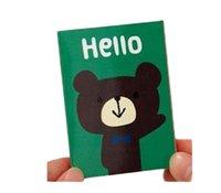 новый блокнот оптовых-Новый милые животные мультфильма Notepad / блокнот / бумага липких примечаний / сообщения Notes Блокноты бесплатной доставка 90pcs
