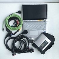 Wholesale tablet cpu resale online - Diagnosis tool truck car C4 star MB SD connect c4 newest software super SSD G in laptop CF AX2 i5 cpu tablet touch screen