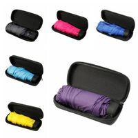 Wholesale mini umbrella colors resale online - 6 Colors Mini Pocket Umbrella Folding Compact Waterproof Sun Rain Umbrella Capsule Pocket Light Umbrellas Outdoor Gadgets CCA10998