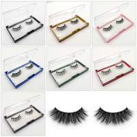 herramientas artesanales al por mayor-3D Mink Eyelashes Eye Faux Mink Lashes Soft Natural Thick False Eyelashes Handcraft Multicayer Eye Lash Extension Beauty Tools GGA2471