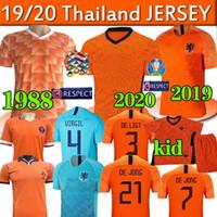 futbol formaları 99 toptan satış-2019 2020 Hollanda Futbol Forma RETRO 1988 Van Basten 1997 1998 1994 Hollanda Retro formalarını BERGKAMP 97 98 99 Gullit Rijkaard DAV