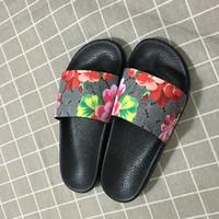sandal çift toptan satış-Lüks Tasarımcı Ayakkabı Slaytlar Yaz Plaj Kapalı Tasarımcı Sandalet Ev Olmadan Tasarımcı Çevirme Çiftler Terlik Kutusu Olmadan