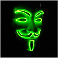 Wholesale Halloween Mask Flashing Mask LED Light Up The Glowing Great Funny Masks Festival Cosplay Costume Supplies Glow In Dark ST003