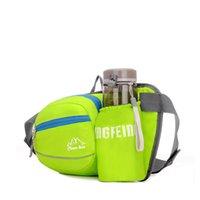 iyi şişeler toptan satış-Kaliteli Açık Spor Bel Yastıkları Su Geçirmez Naylon Çoklu bölmesi Bel Çantaları Sürme Sürme cepler Şişe Tutun L10