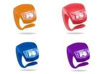 silikon arka bisiklet ışığı toptan satış-5th Bisiklet Lambası Silikon Bisiklet Bisiklet Bisiklet Başkanı Ön Arka Tekerlek LED Flaş Pil Ile 201 Bisiklet Işık Lambası Su Geçirmez Işıkları 2019