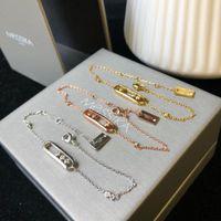 kayan kolye toptan satış-Tasarımcı Bilezik Sürgülü Kolye 2019 Lüks Moda Aksesuarları 18 K Altın Pırlanta Gümüş Tam Pırlanta Bilezik