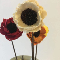 Wholesale diy handmade home decor resale online - 3pcs Dried Flowers cm head Handmade Corn Poppy for DIY Wedding Home Room Cabinet Display Floral Decor Valentine s Day Gift