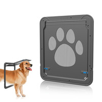 ingrosso reti da gatto-Pet Screen Screen per porte e finestre Dog Cat Gate Puppy Automatico Magnetico con chiusura a chiave Flap Net Flap Safe Door Gate LJJA2336