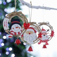 Wholesale home decor suppliers for sale - Group buy Christmas decorations for home Wooden Santa Old Man Snowman Pendant Small Pendant Accessories Home Decor Supplier Kids Gift