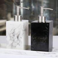 shampoo-spenderflaschen groihandel-Flasche 500 ml-Harz Soap Bottle Creative Hotel Marble Shampoo Dispenser Press Hand Sanitizer Flasche Seifenspender MMA2658