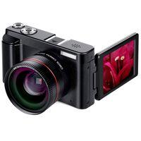 câmera de vídeo eletrônica venda por atacado-2019 Digital Camera Filmadora Full HD 1080p 24.0MP Câmera Com Wide Angle Lens e cartão SD de 32 GB, 3,0