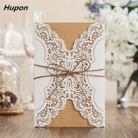 Wholesale luxury birthday invitation cards resale online - 50pcs Luxury Wedding Invitation Cards Kits with Envelopes Laser Cut Birthday Greeting Card Wedding Decoration Party Supplies T200115