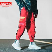 harajuku sportswear achat en gros de-Aelfric Eden Harem Joggers Mens Skateboard Sportswear 2018 Poches Mode Casual Harajuku Streetwear Marée Homme Pantalon De Survêtement B041