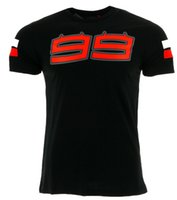 ingrosso arancione tees di golf-2017 Jorge Lorenzo 99 Large Logo T-shirt da uomo Moto GP Racing Summer Black Tee