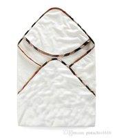 ingrosso abbracci del bambino-Asciugamano avvolgente neonato classico in cotone con cappuccio Asciugamano neonato avvolto in cotone morbido per bambini