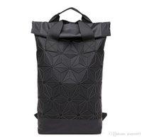 ingrosso nuove forme dello zaino-Moda Wild Rhombus Shape Backpack Nuovo semplice e generoso Studente di grande capacità Casual doppio zaino jooyoo