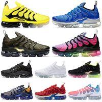 ingrosso usa nuove scarpe-2019 nike air vapormax plus TN plus uomo donna scarpe da corsa triple BLACK VOLT BUMBLEBEE SHERBET USA Grape cool grigio mens scarpe da ginnastica moda sport sneakers