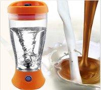caja de tornado al por mayor-Color Proteína eléctrica Shaker Blender Botella de agua Botella Tornado automático 400ml bpa Libre desmontable Smart Mixer Cup Caja al por menor