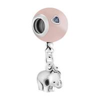 ingrosso braccialetto a palloncino-Elephant Pink Balloon Charms in argento galleggianti per gioielli Making Fashion Argento 925 gioielli donne Charms per bracciali fai da te perline